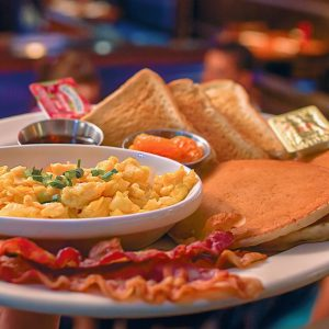 All American Breakfast with free coffee refills for only $8.57