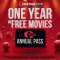 WIN Free movies for 1 year